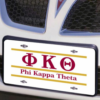 Phi Kappa Theta Lettered Lines License Cover