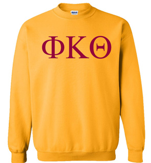 Phi Kappa Theta Lettered World Famous Greek Crewneck
