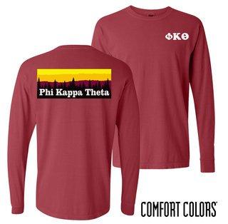 Phi Kappa Theta Outdoor Long Sleeve T-shirt - Comfort Colors
