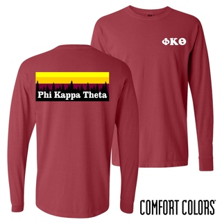 Phi Kappa Theta Outdoor Long Sleeve T-shirt - Comfort Colors