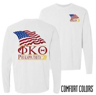 Phi Kappa Theta Patriot Long Sleeve T-shirt - Comfort Colors