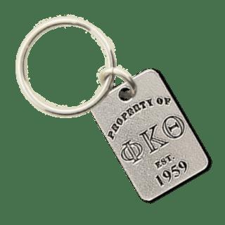 Phi Kappa Theta Property of Tag Keychain