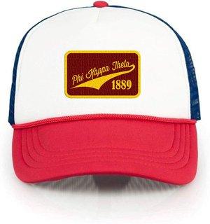 Phi Kappa Theta Red, White & Blue Trucker Hat