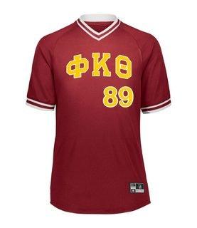Phi Kappa Theta Retro V-Neck Baseball Jersey