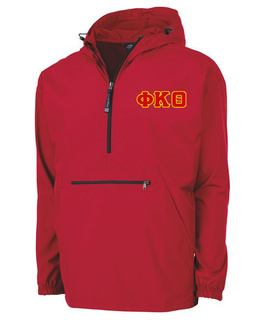Phi Kappa Theta Tackle Twill Lettered Pack N Go Pullover