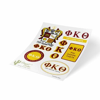 Phi Kappa Theta Traditional Sticker Sheet