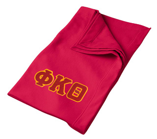 DISCOUNT-Phi Kappa Theta Twill Sweatshirt Blanket