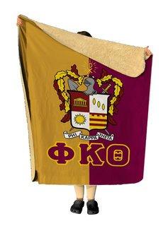 Phi Kappa Theta Two Tone Two Tone Sherpa Lap Blanket