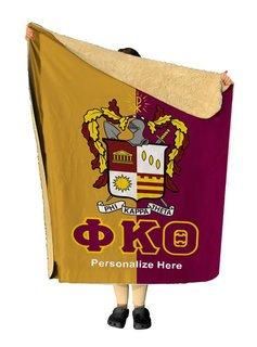 Phi Kappa Theta Two Tone Sherpa Lap Blanket