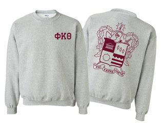 Phi Kappa Theta World Famous Crest - Shield Printed Crewneck Sweatshirt- $25!