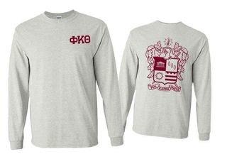 Phi Kappa Theta World Famous Crest - Shield Long Sleeve T-Shirt- $19.95!