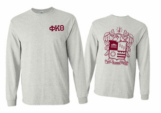Phi Kappa Theta World Famous Crest - Shield Long Sleeve T-Shirt- $19.95!