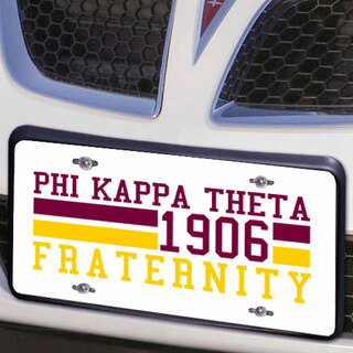 Phi Kappa Theta Year License Plate Cover