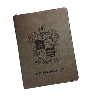 Phi Kappa Theta Zipper Leatherette Portfolio with Notepad