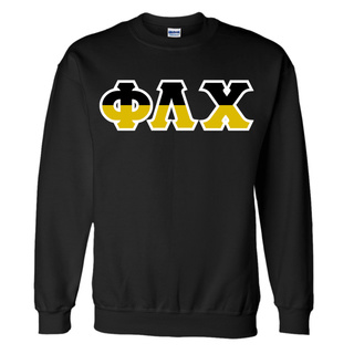 Phi Lambda Chi Two Tone Greek Lettered Crewneck Sweatshirt