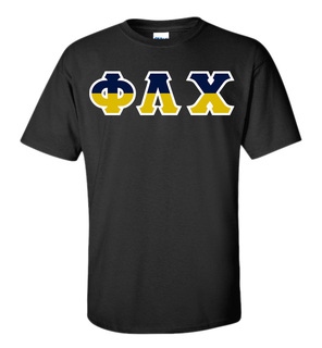 Phi Lambda Chi Two Tone Greek Lettered T-Shirt
