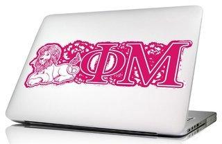 Phi Mu 10 x 8 Laptop Skin/Wall Decal