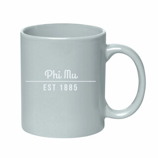 Phi Mu 11 oz. Colored Stoneware Mug