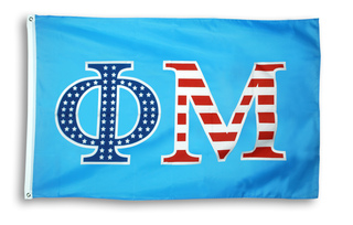 Phi Mu 3 X 5 USA Flag
