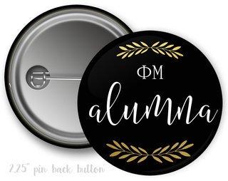 Phi Mu Alumna Button
