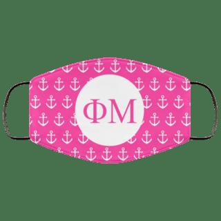 Phi Mu Anchors Face Mask