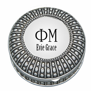 Phi Mu Antique Beaded Pin Box