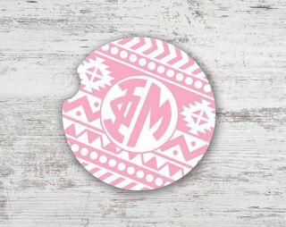 Phi Mu Aztec Sandstone Car Cup Holder Coaster