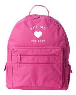 DISCOUNT-Phi Mu Mascot Backpack