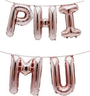 Phi Mu Banner Balloon Set