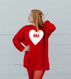 Phi Mu Big Heart Sweatshirt