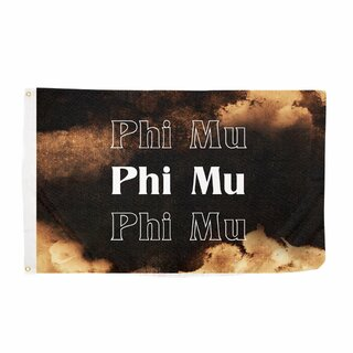Phi Mu Bleach Wash Flag