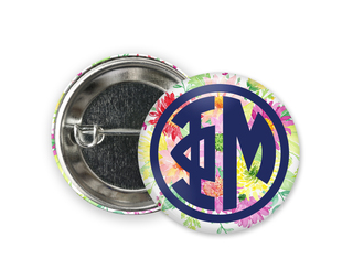Phi Mu Bouquet Button