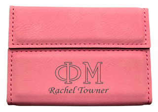 Phi Mu Business Card Holder