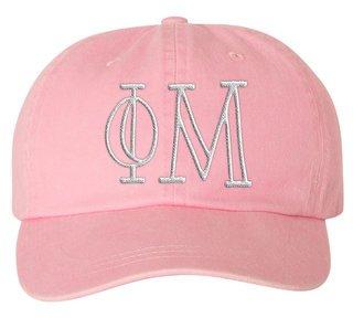 Phi Mu Carson Greek Letter Hats