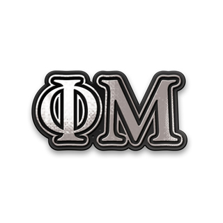 Phi Mu Chrome Car Emblem!