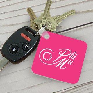 Phi Mu Mascot Key Chain