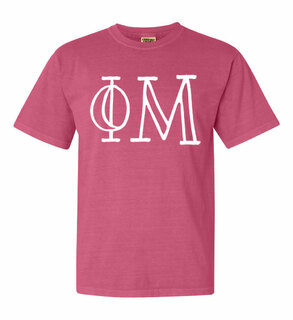 Phi Mu Comfort Colors Heavyweight Design T-Shirt