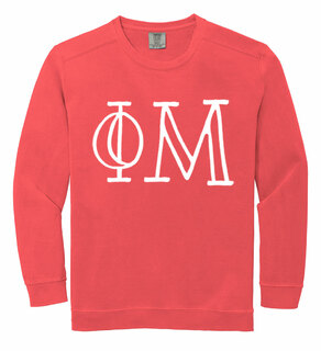 Phi Mu Comfort Colors Greek Crewneck Sweatshirt