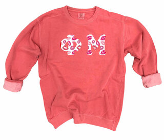 Phi Mu Comfort Colors Lettered Crewneck Sweatshirt