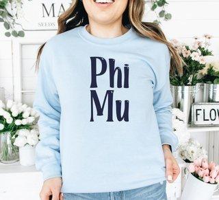 Phi Mu Comfort Colors Rosie Crew