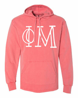 Phi Mu Comfort Colors - Terry Scuba Neck Greek Hooded Pullover