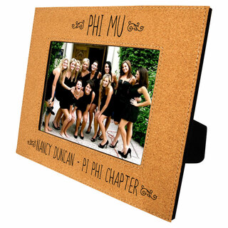 Phi Mu Cork Photo Frame