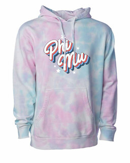 Phi Mu Cotton Candy Tie-Dyed Hoodie