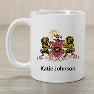 Phi Mu Crest Coffee Mug - Personalized!