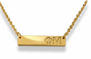 Phi Mu Cross Bar Necklace