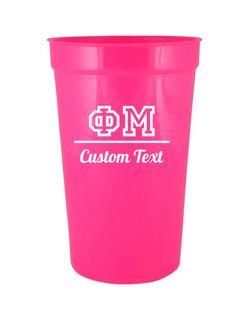 Phi Mu Custom Greek Collegiate Stadium Cup