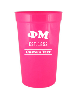Phi Mu Custom Greek Cooper Stadium Cup