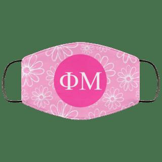 Phi Mu Daisies Face Mask