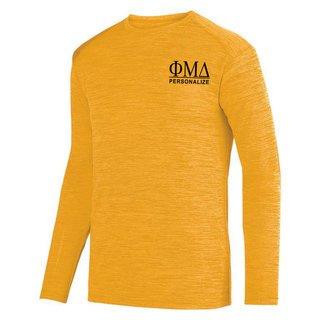 Phi Mu Delta- $26.95 World Famous Dry Fit Tonal Long Sleeve Tee