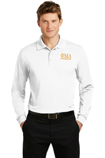 Phi Mu Delta- $35 World Famous Long Sleeve Dry Fit Polo